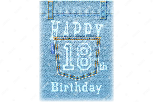 Download Free Happy 18th Birthday Greeting Card Graphic By Natariis Studio for Cricut Explore, Silhouette and other cutting machines.