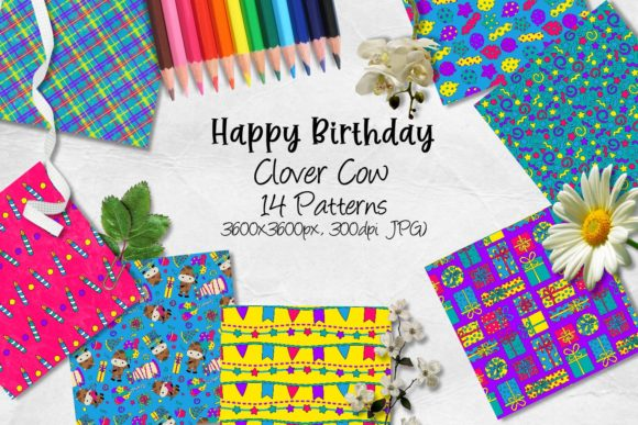 Download Free Happy Birthday Clover Cow Graphic By Arda Designs Creative Fabrica for Cricut Explore, Silhouette and other cutting machines.