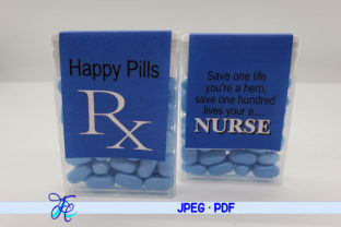 Download Free Happy Pills Rx Blue Tic Tac Labels Graphic By Family Creations for Cricut Explore, Silhouette and other cutting machines.