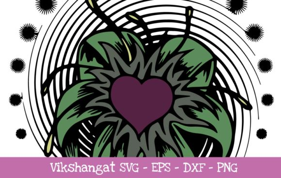 Download Free Heart Flower Vintage Classic Cut Files Graphic By Vikshangat for Cricut Explore, Silhouette and other cutting machines.