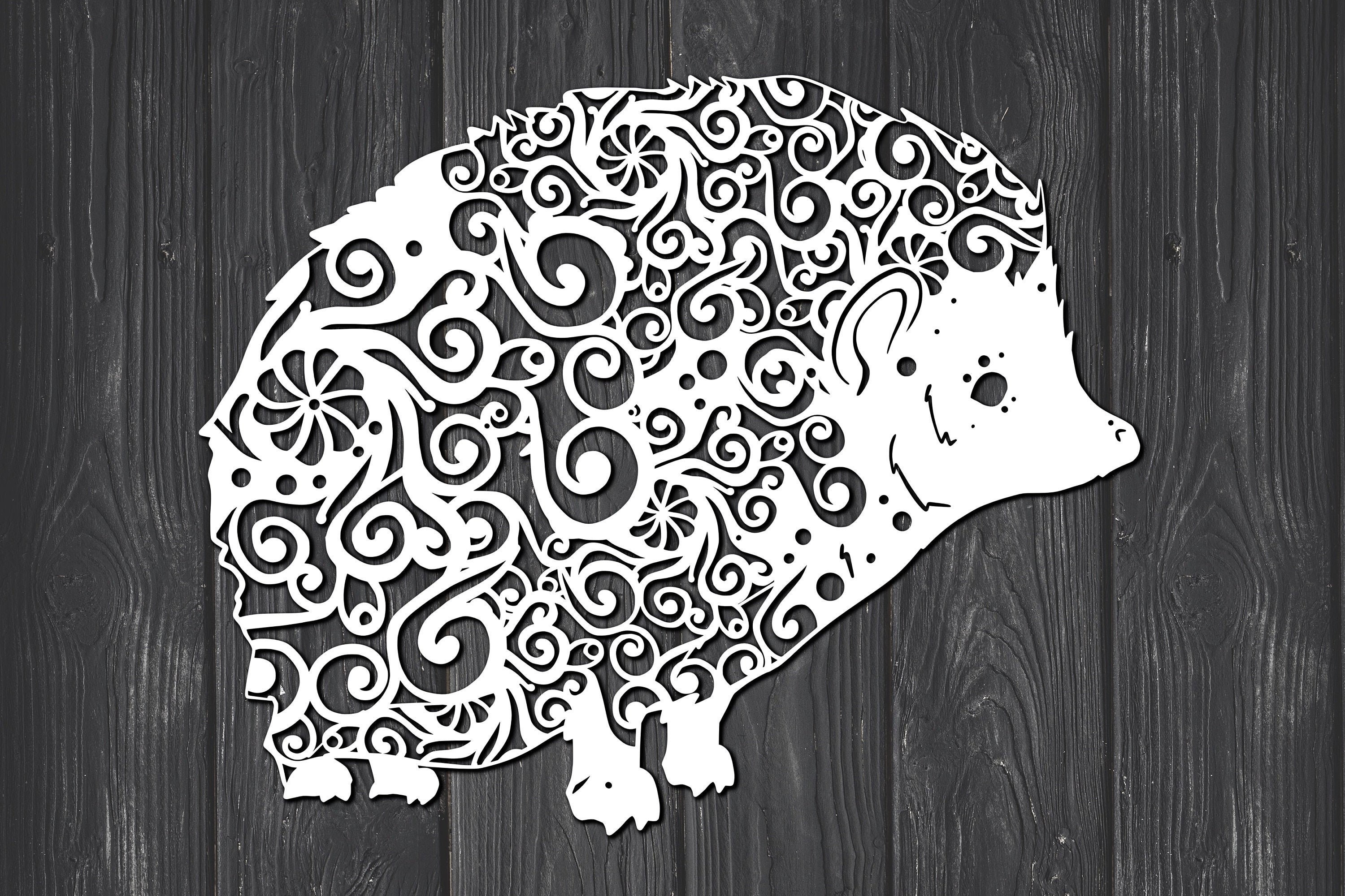 Download Free Hedgehog Mandala Graphic By Fortunasvg Creative Fabrica for Cricut Explore, Silhouette and other cutting machines.
