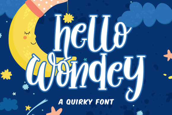 Print on Demand: Hello Wondey Serif Font By Fallengraphic