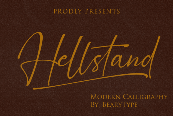 Download Free Hellstand Font By Letterbeary Creative Fabrica for Cricut Explore, Silhouette and other cutting machines.