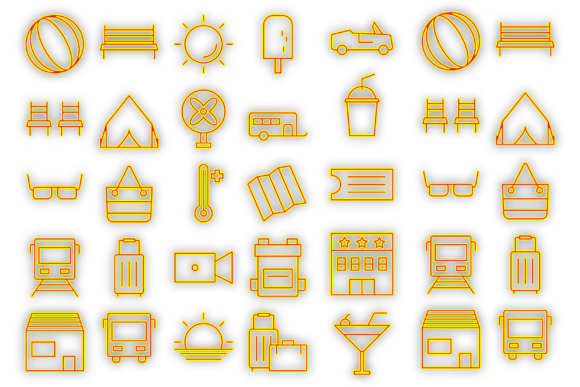 Download Free Holiday Icons Graphic By Designvector10 Creative Fabrica SVG Cut Files