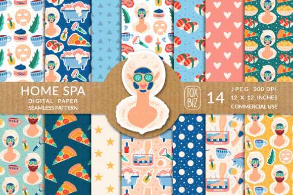 Print on Demand: Home Spa Vector Seamless Patterns. Graphic Patterns By FoxBiz