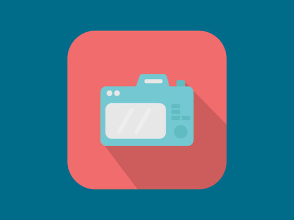 Download Free Icon Camera Photo Modern Style Graphic By Meandmydate Creative for Cricut Explore, Silhouette and other cutting machines.