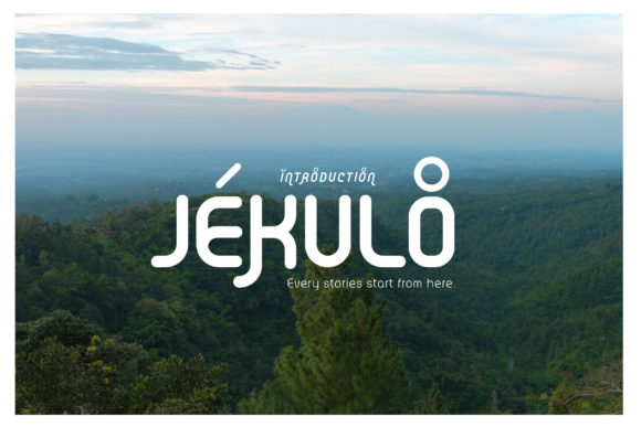 Print on Demand: Jekulo Display Font By singpentinkhappy.project