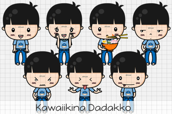 Download Free Kawaiikina Dadakko Graphic By Dolls To Go Creative Fabrica for Cricut Explore, Silhouette and other cutting machines.