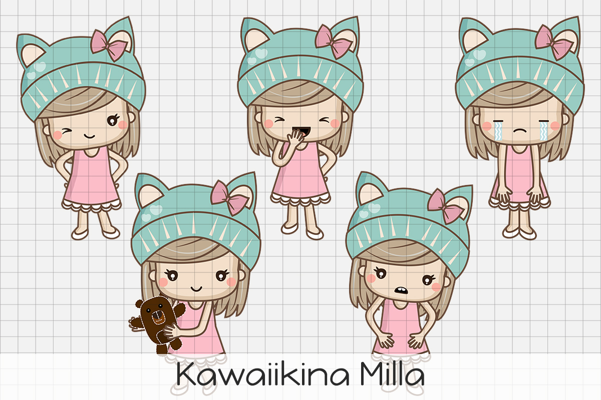 Download Free Kawaiikina Milla Graphic By Dolls To Go Creative Fabrica for Cricut Explore, Silhouette and other cutting machines.