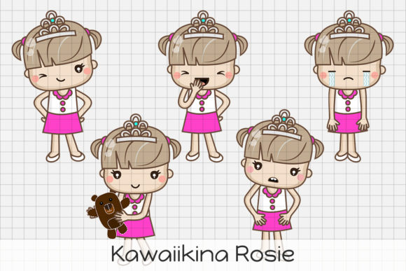 Download Free Kawaii Liberty Girl Graphic By Dolls To Go Creative Fabrica for Cricut Explore, Silhouette and other cutting machines.
