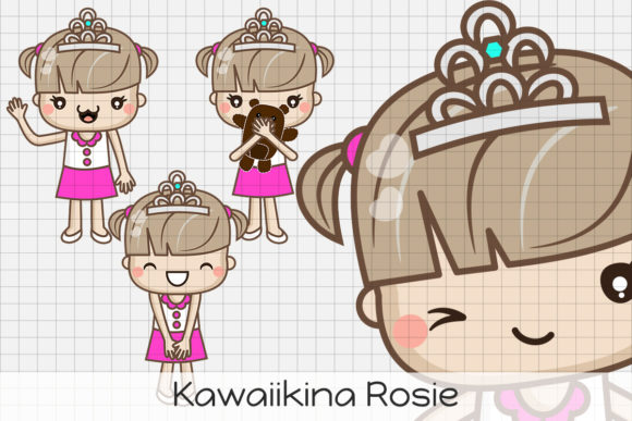 Download Free Kawaiikina Rosie Graphic By Dolls To Go Creative Fabrica for Cricut Explore, Silhouette and other cutting machines.