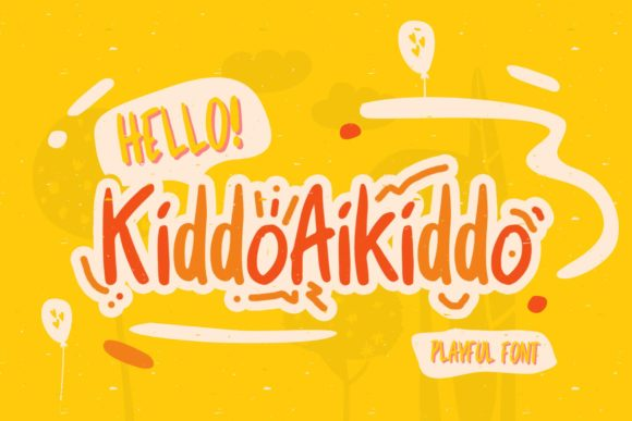 Print on Demand: Kiddo Aikiddo Display Schriftarten von febryan.satria1