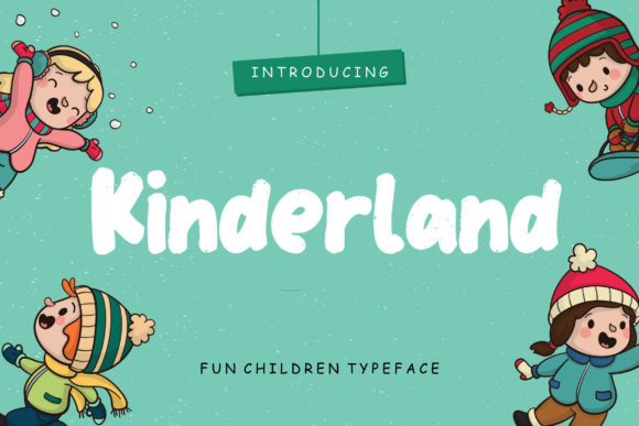 Print on Demand: Kinderland Display Font By CreatypeStudio