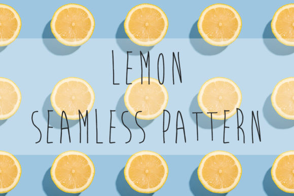Print on Demand: Lemon Citrus Fruits Seamless Pattern Graphic Food & Drinks By frostroomhead