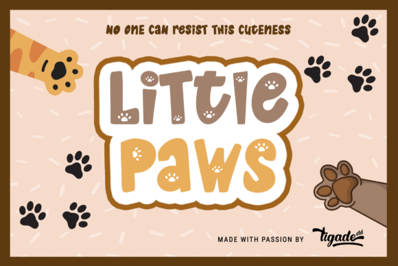 Print on Demand: Little Paws Display Font By Tigade std