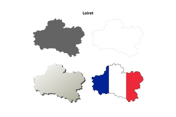 Download Free Loiret Outline Map Set Graphic By Davidzydd Creative Fabrica for Cricut Explore, Silhouette and other cutting machines.
