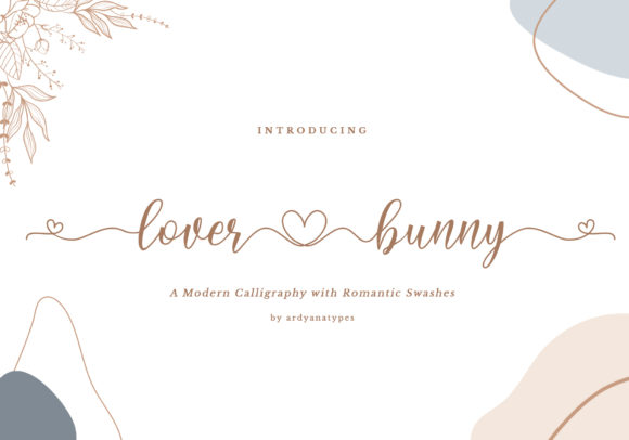 Print on Demand: Lover Bunny Script & Handwritten Font By ardyanatypes