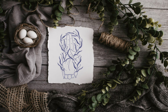 Download Free Magic Symbol Hand Drawn Line Art Graphic By Arina Ulyasheva for Cricut Explore, Silhouette and other cutting machines.