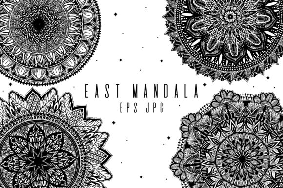 Download Free Mandala Meditation Hand Drawn Art Graphic By Arina Ulyasheva for Cricut Explore, Silhouette and other cutting machines.