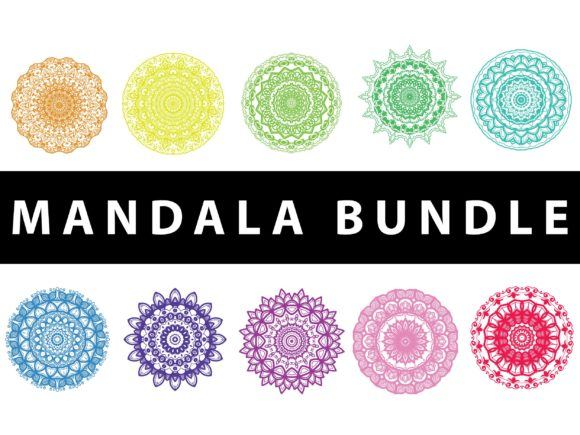 Download Free Mandala Pack Vector Design Color Graphic By Redsugardesign for Cricut Explore, Silhouette and other cutting machines.