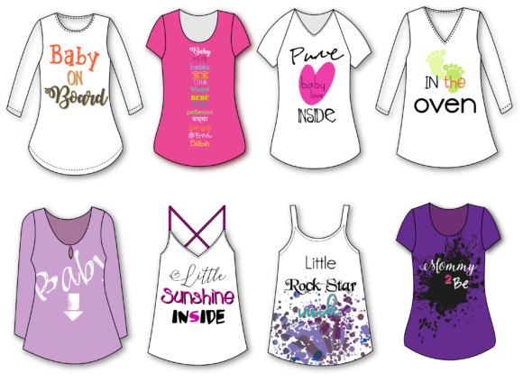 Download Free Maternity Tees Graphic By Fernanda Santistevan Z Creative Fabrica for Cricut Explore, Silhouette and other cutting machines.