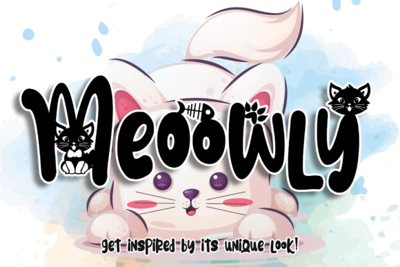 Print on Demand: Meoowly Display Font By Stefani Letter