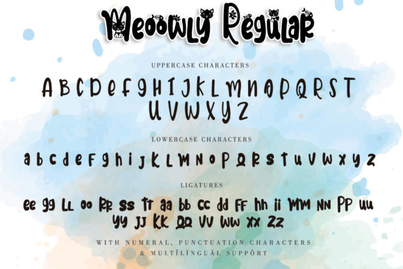 Print on Demand: Meoowly Display Font By Stefani Letter - Image 5