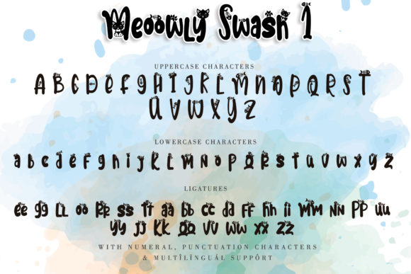 Print on Demand: Meoowly Display Font By Stefani Letter - Image 6