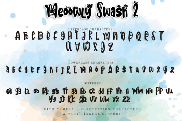 Print on Demand: Meoowly Display Font By Stefani Letter - Image 7