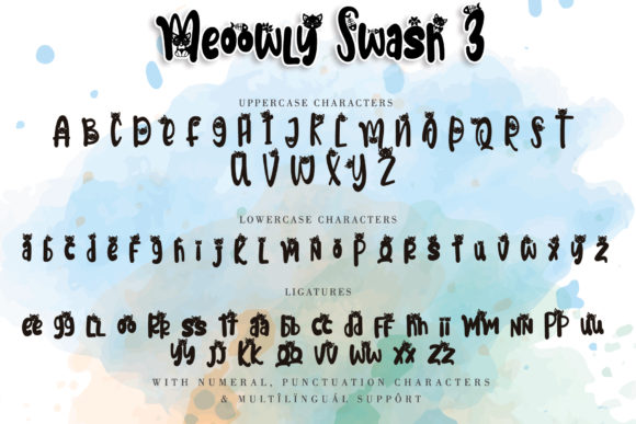 Print on Demand: Meoowly Display Font By Stefani Letter - Image 8
