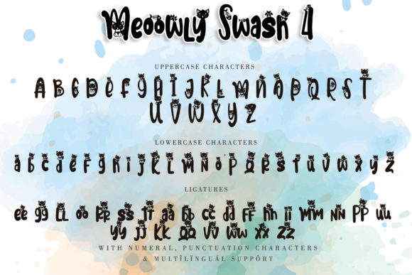 Print on Demand: Meoowly Display Font By Stefani Letter - Image 9