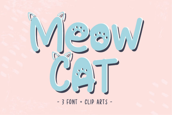 Print on Demand: Meow Cat Display Font By Sigit Dwipa
