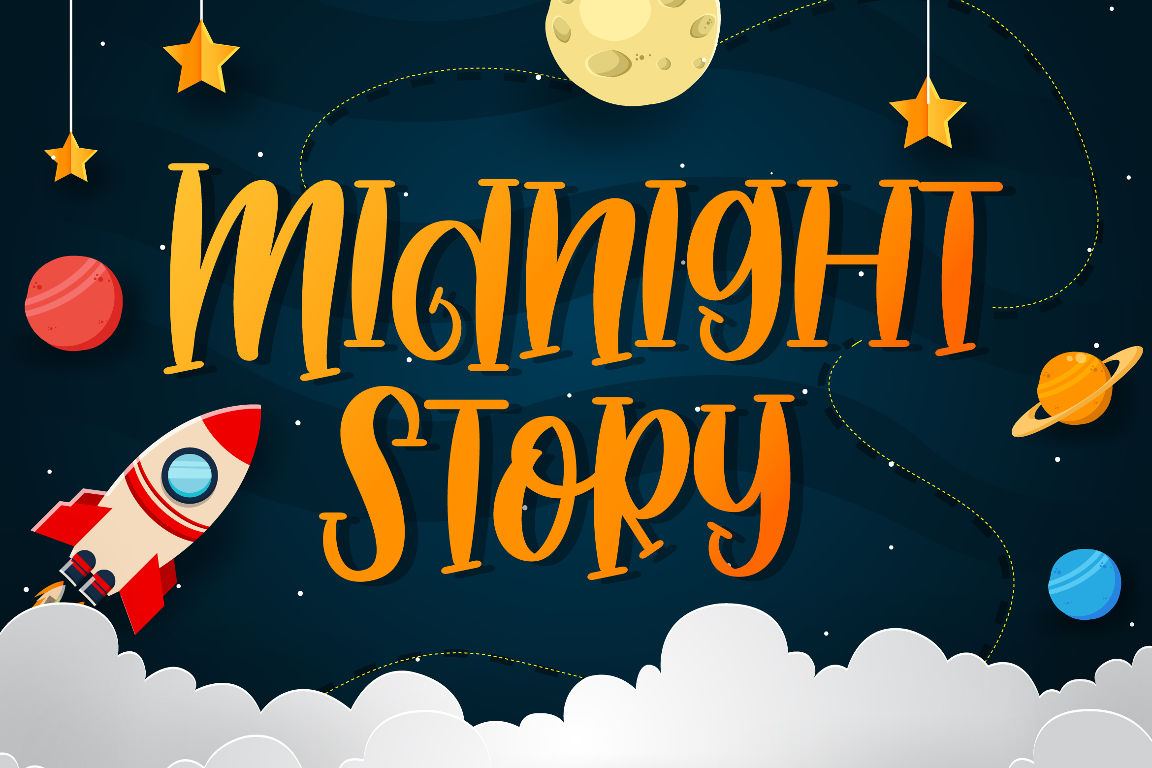 Download Free Midnight Story Font By Fallengraphic Creative Fabrica for Cricut Explore, Silhouette and other cutting machines.