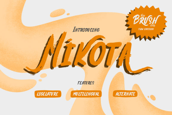 Print on Demand: Mikota Display Font By flow_envision