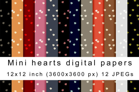 Download Free Mini Hearts Digital Papers Graphic By Andrea Kostelic Creative for Cricut Explore, Silhouette and other cutting machines.