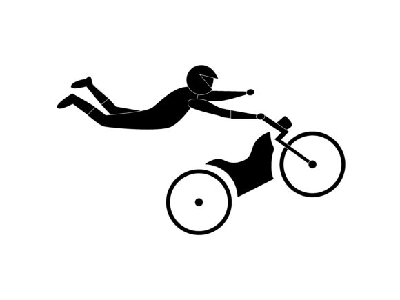 Download Free Motocross Extreme Sport Icon Silhouette Graphic By for Cricut Explore, Silhouette and other cutting machines.