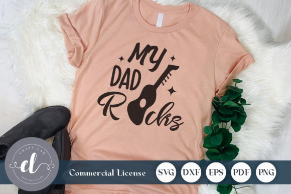 Download Free My Dad Rocks Graphic By Craftlabsvg Creative Fabrica for Cricut Explore, Silhouette and other cutting machines.