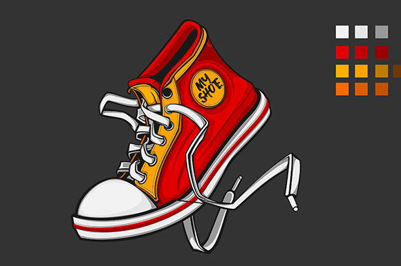 Print on Demand: My Shoe Graphic Illustrations By rimbun bambu