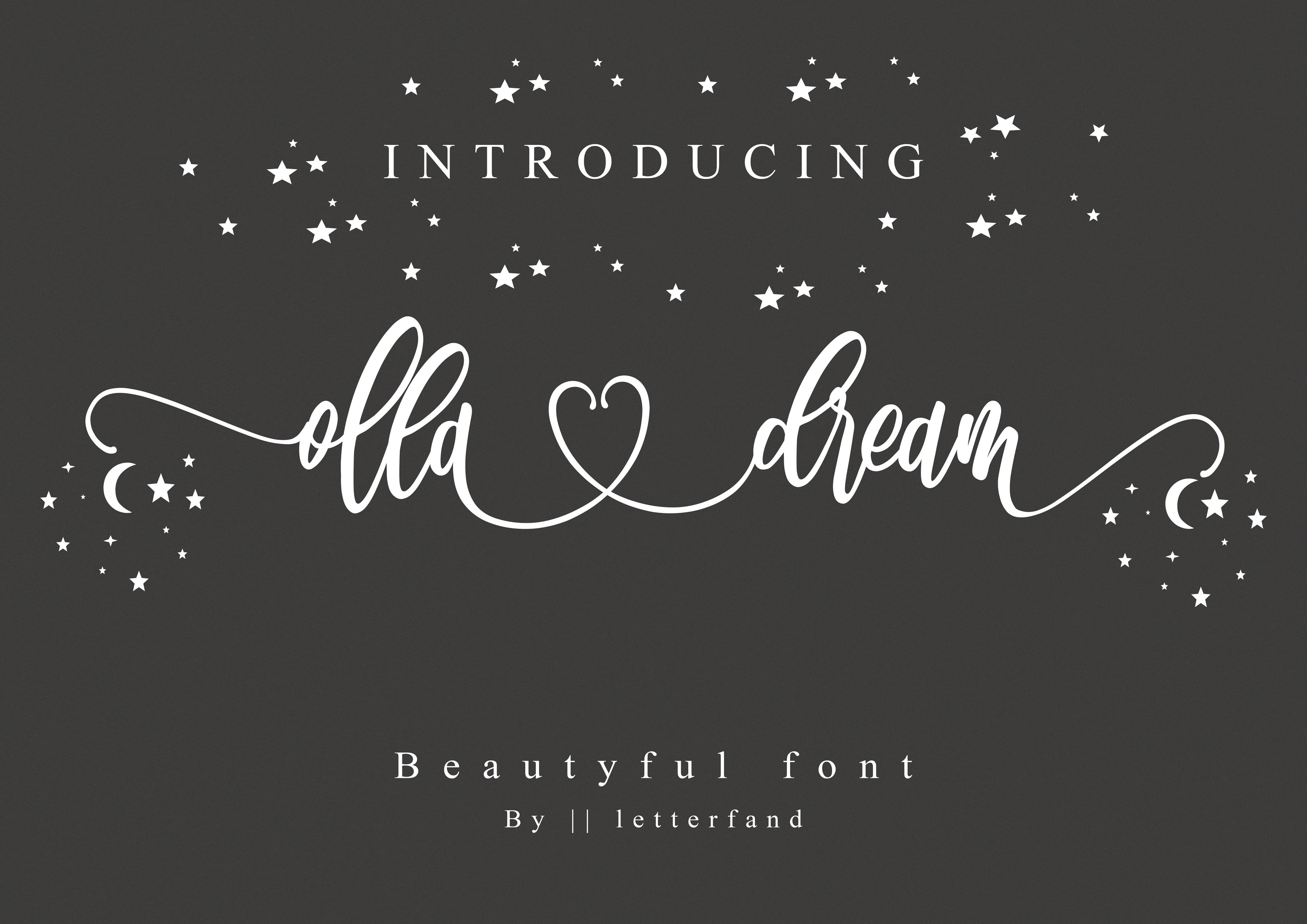 Download Free Olla Dream Font By Letterfand Studio Creative Fabrica for Cricut Explore, Silhouette and other cutting machines.