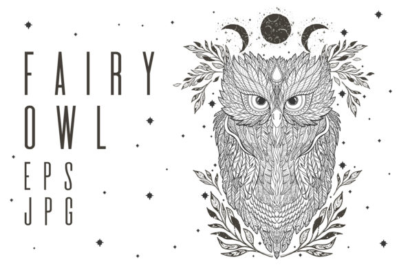 Download Free Owl Illustration Hand Drawn Graphic By Arina Ulyasheva for Cricut Explore, Silhouette and other cutting machines.