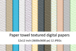 Print on Demand: Paper Towel Textures Graphic Textures By Andrea Kostelic