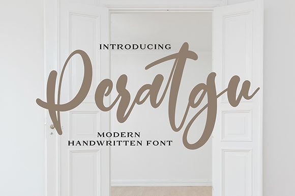 Print on Demand: Peratgu Script & Handwritten Font By missinklab