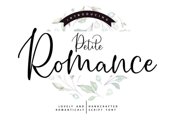 Print on Demand: Petite Romance Script & Handwritten Font By Vunira