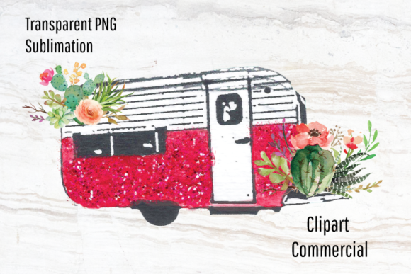 Download Free Pink Camper Trailer Sublimation Design Graphic By Blueberry Jam for Cricut Explore, Silhouette and other cutting machines.