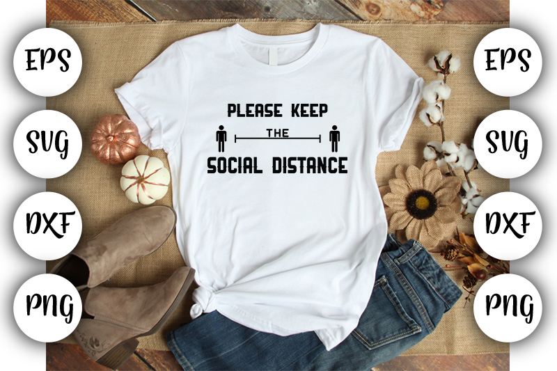 Download Free Please Keep The Social Distance Graphic By Design Store for Cricut Explore, Silhouette and other cutting machines.