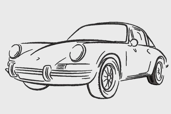 Print on Demand: Porsche 911 Targa 1972 Transportation Embroidery Design By Embroidery Shelter