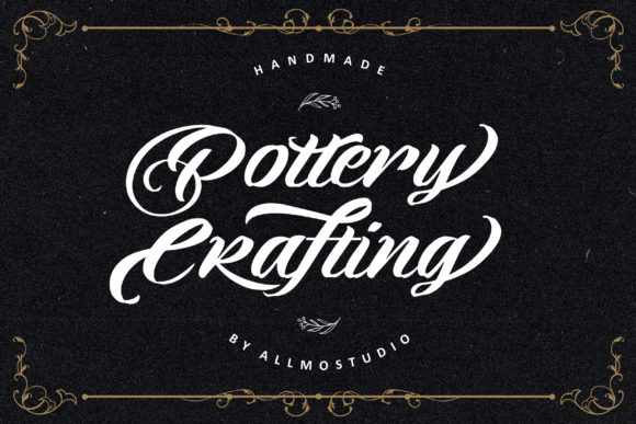 Print on Demand: Pottery Crafting Script & Handwritten Font By AllmoStudio