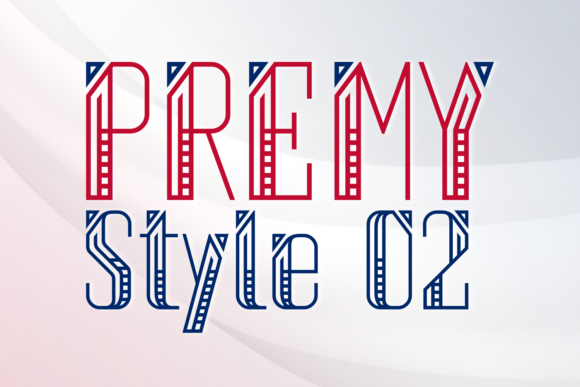 Print on Demand: Premy Style 2 Display Font By Situjuh