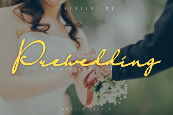 Print on Demand: Prewedding Script & Handwritten Font By mozyenstudio
