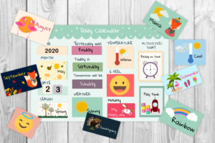 Printable Kids Calendar Graphic Teaching Materials By Igraphic Studio